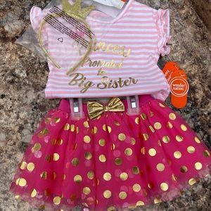NWT 3pc Princess Big Sister Outfit